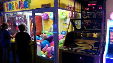 Pac-Man Basketball and a giant UFO catcher