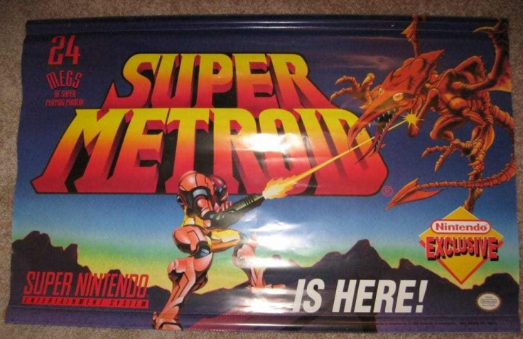 ORIGINAL-Super-NES-Vinyl-Super-Metroid-Banner-1994